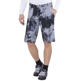 100% Celium Shorts Men black tiedyed